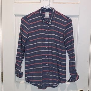 Gap Chambray Striped Button Down Shirt
